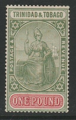 Trinidad and Tobago 1921-22 £1 Green and carmine SG 215 Mint.