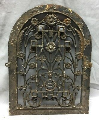 One Antique Arched Top Heat Grate Grill Floral Decorative Arch 11X15 630-18C
