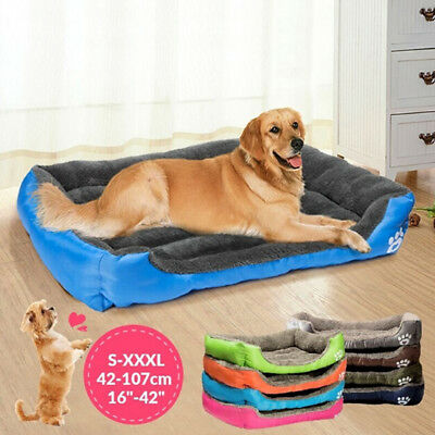 Large Dog Bed Puppy Cats Beds Soft Waterproof Pets Sleeping House Kennels Pad HG