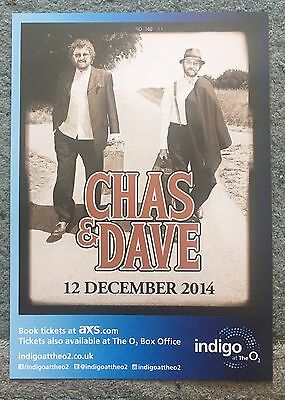 Chas & Dave A5 Double Sided Gig Flyer 12th December 2014 Rabbit Getcha etc