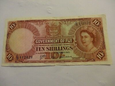 1 October 1965 Government of Fiji 10 Shillings Note