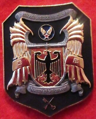 """US Challenge Coin """"13th Field Investigations SQ"""" Special Agent - Ramstein AB Ger"""