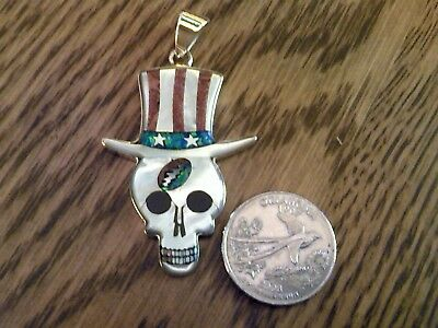 Jerry's Skull w/USA Top Hat from the Early Days of Grateful Dead