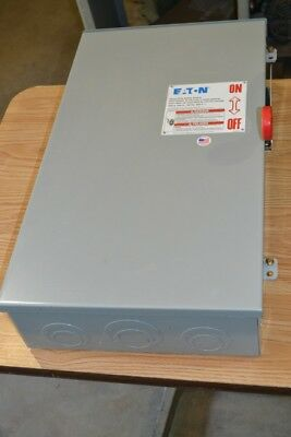 Eaton 200A, 240V, 3 Pole, Fusible Disconnect Switch, DH324FRK Series B, Type 3R