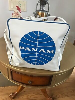 Vintage Pan Am Pan American Airlines White Flight Travel Tote Bag