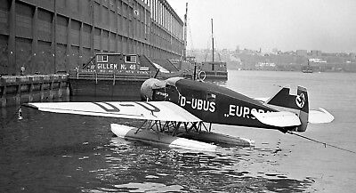 NDL - Heinkel HE 58 From SS Europa at New York - 8x10 B&W Print