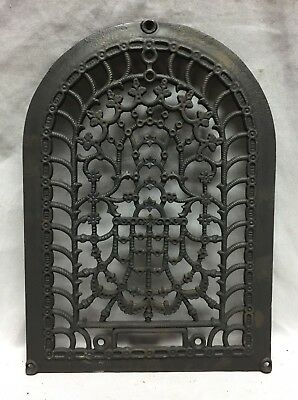 One Antique Arched Top Heat Grate Grill Stars Flowers Pattern Arch 10X14 634-18C