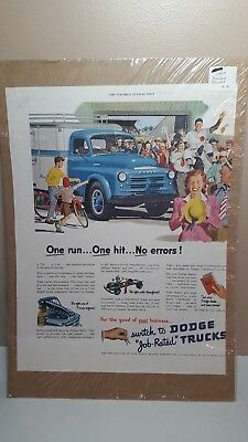 1949 Dodge Trucks Classic Illustrated Vintage Print Ad Job Rated !