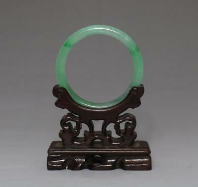 Perfect Chinese Carved Natural Jadeite Bracelet Bangle 5.8Cm (528)