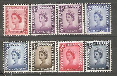 1958/69 Isle of Man Regionals ( Set of 8 ) Mint Never Hinged