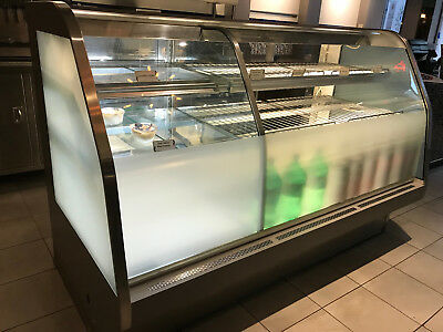 Bakery Display Case Refrigerated & Dry Curved Glass