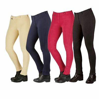 Dublin Supa Slender Classic Pull On Ladies Jodhpurs Black Navy Beige Cherry
