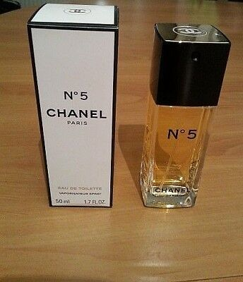 50 ml CHANEL No 5 EAU DE TOILETTE Zerstäuber Vaporisateur Spray Paris
