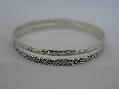 Pair of Vintage Danecraft Sterling Silver Bangle Bracelets