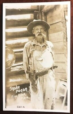 Pine Ridge, Arkansas AR ~ Snake Hogan RPPC Postcard