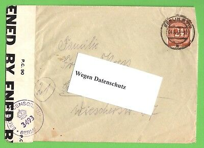 US-Zensur-Post  Berlin - Bochum v.1947