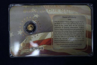 2009 Birth of Our Nation Statue of Liberty .5 gram .585 Fine Gold Coin - America