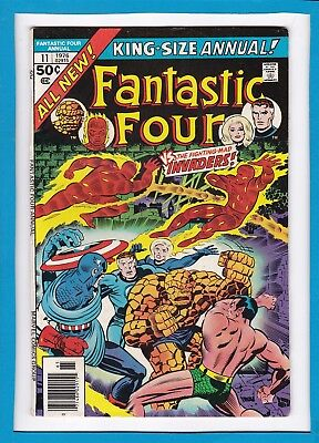"Fantastic Four King-Size Annual #11_1976_Very Good_""the Fighting-Mad Invaders""!"