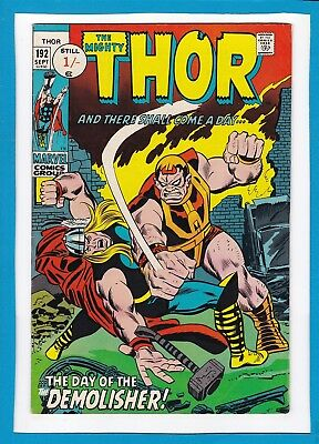 Mighty Thor #192_Sept 1971_Vf Minus_Silver Surfer_Loki_Balder_Bronze Age Uk!