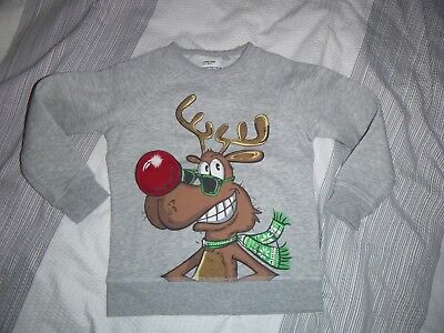 next rudolph reindeer christmas sweater age 6