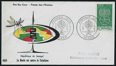 SENEGAL 1962 Malaria Eradication First Day Cover DAKAR SHS USED
