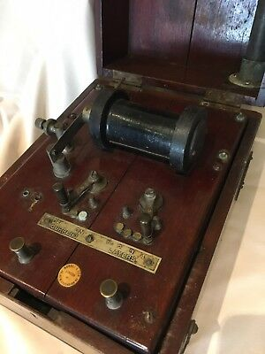 Antique Medical Electric Shock Machine by SCHALL & SON