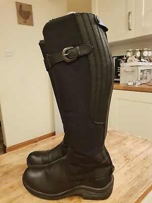 Toggi black winter long riding boots black , fleece lined - size 40/ uk6.5