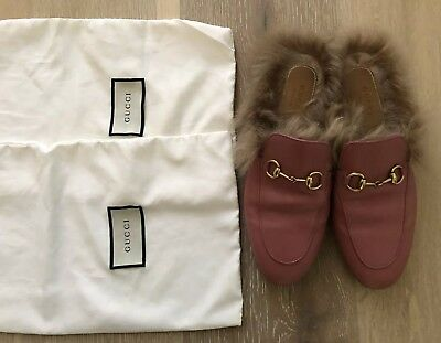 1871686b017 GUCCI PRINCETOWN MULES Slippers with Fur 37 EUC -  499.99