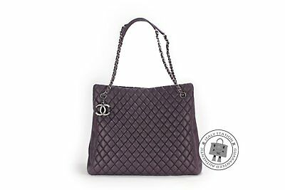 Chanel A67388 Y07112 CC Shopping Bag IN Iridescent Purple / 91623 Calfskin Shoul