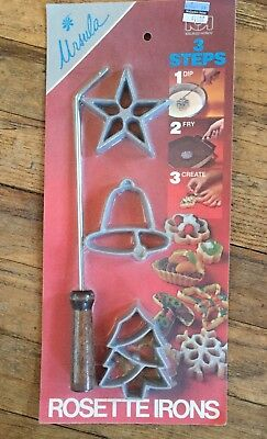Vintage Ursula 3 Step Rosette Irons and Handle Star Bell Tree