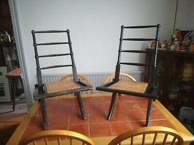 Near Pair of E.W Godwin, Folding Black and Gilt Deck Chair, (Attributed)