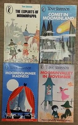 4 MOOMIN BOOKS by TOVE JANSSON  ** £3.25 UK POST ** PAPERBACK