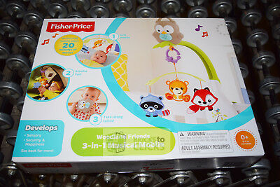 Fisher-Price Woodland Friends 3-in-1 Musical Mobile Baby
