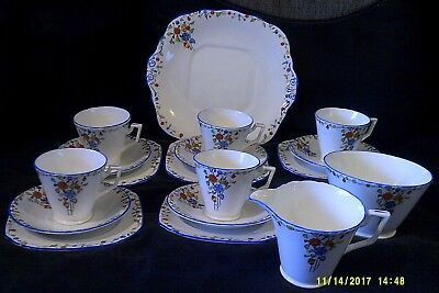 Antique Sutherland Art Deco 18 Piece Tea Set