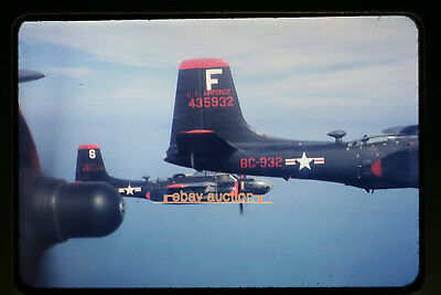 Original c.1953 Slide, USAF Martin B-26 Marauder Aircraft near Korea or Japan