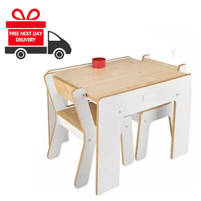 ❤️ NEW Little Helper FunStation Duo Table & 2 Chairs White NEXT DAY DELIVERY ❤️