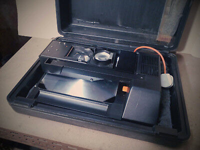 Overhead Projector Bell&howell Traveller  By Medium Case Good Cndtn Not Tested