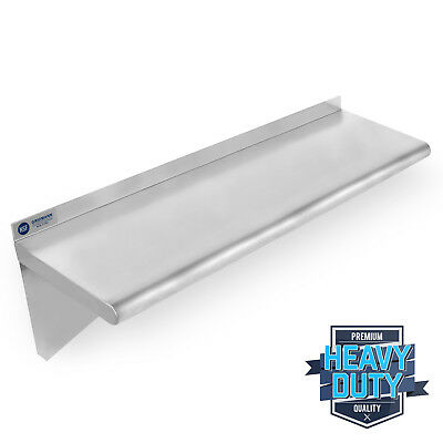 "OPEN BOX - Stainless Steel Commercial Kitchen Wall Shelf Restaurant - 12"" x 36"""