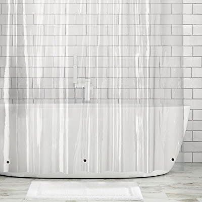 Shower Curtain Bathroom Decor Clear Liner 72 X 96 Inch Water Proof Extra Long