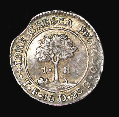 1830 T F Central American Republic (Honduras) Real KM# 19.2 high grade for issue