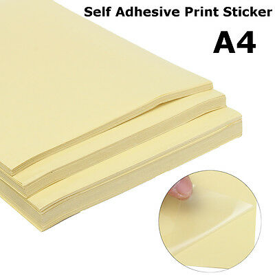 A4 Transparent Clear Glossy Self Adhesive Sticker Paper Label Laser Print new