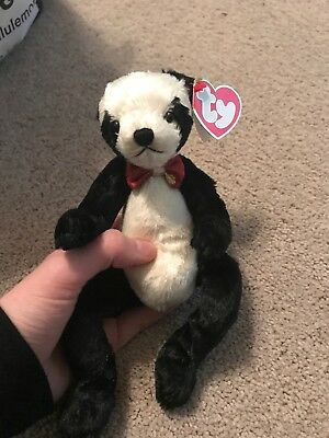 "Mint Condition Ty Beanie Baby The Attic Treasures Collection ""Easton"" Panda Bear"