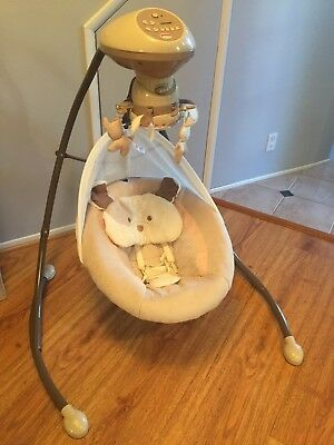 Fisher-Price Snugapuppy Cradle with Smart Swing Technology for Baby