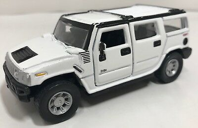 Maisto Hummer H2 White Pullback 1:46 Scale Die Cast! Free Shipping