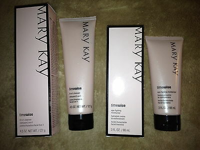 Mary Kay TimeWise Cleanser & Moisturizer for NORMAL TO DRY SKIN Made in 2018