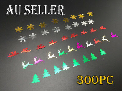 Sequins Shapes Scrapbooking Decoration Reindeer Christmas Tree Angel Snowflake