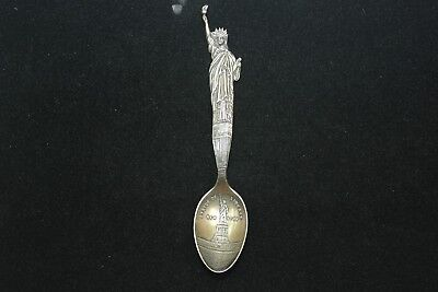 "Vintage  "" Statue of Liberty / New York  "" Sterling Silver Souvenir Spoon"