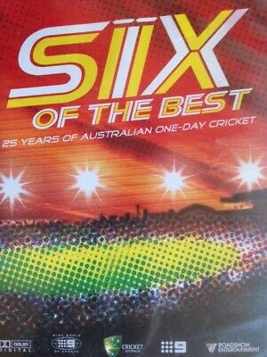 SIX OF THE BEST 25 Years of Aussie One Day Cricket DVD Cricket Australia AS NEW