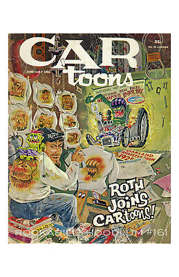 New Hot Rod Poster 11x17 Ed Roth Car Toons Magazine Cover Art Monster Weirdo