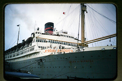 Original c.1958 Slide, RMS Queen of Bermuda Ocean Cruise Ship, Cunard Line
